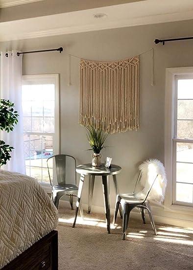 LSHCX Large Boho Macrame Wall Hanging Wall Art Home Wall Decor – Rustic Headboard Wedding Garland Macram Curtain – 40 x 28