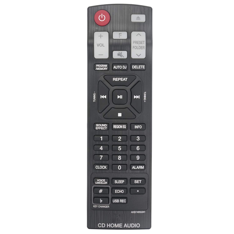 New Remote Control AKB74955341 for LG CD Home Audio CJS45W CJ65 CJS65F CJ45 CJS45F