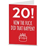 20th Birthday Card For Him Her Professionally Printed Blank Inside Your Own Personal Greeting Other