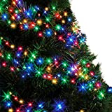 Cluster Lights 480 Multi Colour Outdoor Christmas Tree Lights LED Fairy Lights ( 6m / 20ft Lit Length ) Multi-action Mains Operated Green Cable - Indoor & O