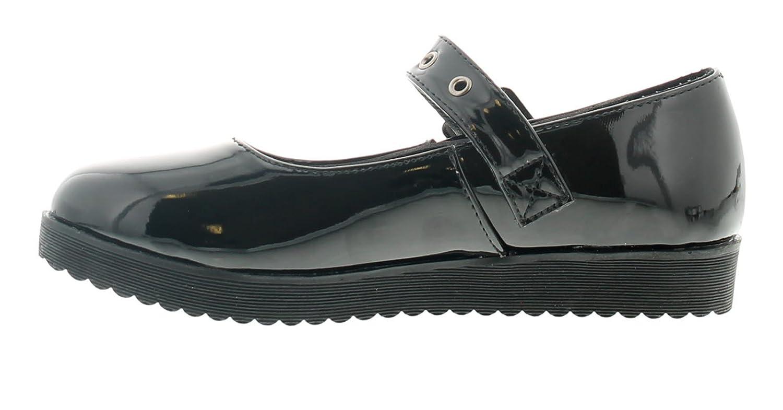 Miss Riot Darcey Niña Zapatos de Colegio Negro - Negro - Tallas 1-13: Amazon.es: Zapatos y complementos