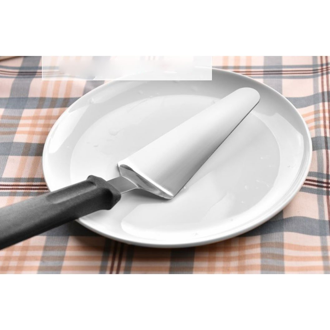 Stainless Steel Pie Server Cake Holder Handle Spatula Peels Slotted Pizza Cut Turner Professional Shovel Server (silver) (silver)