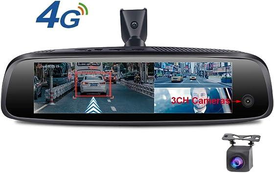 SZKJ E093 Espejo retrovisor para coche con pantalla táctil de 8 ...
