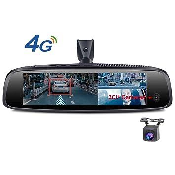 SZKJ E093 Espejo retrovisor para coche con pantalla táctil ...