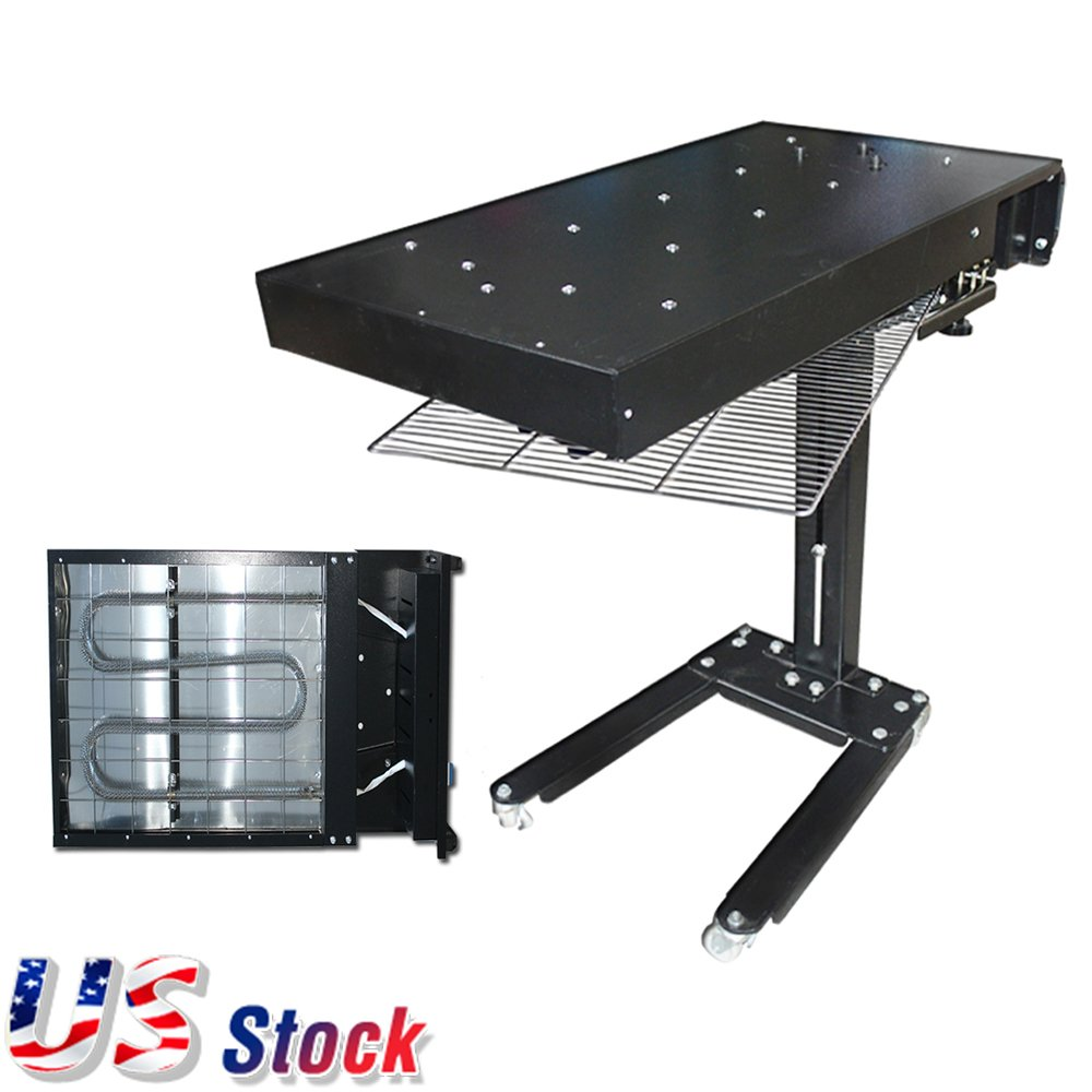 US Stock 24'' x 18'' 1800W New Flash Dryer Silkscreen T-shirt Printing Curing Adjustable Height