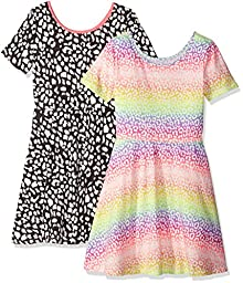 The Children\'s Place Big Girls\' Short Sleeve Dress (Pack of 2), Multi Color, X-Large/14