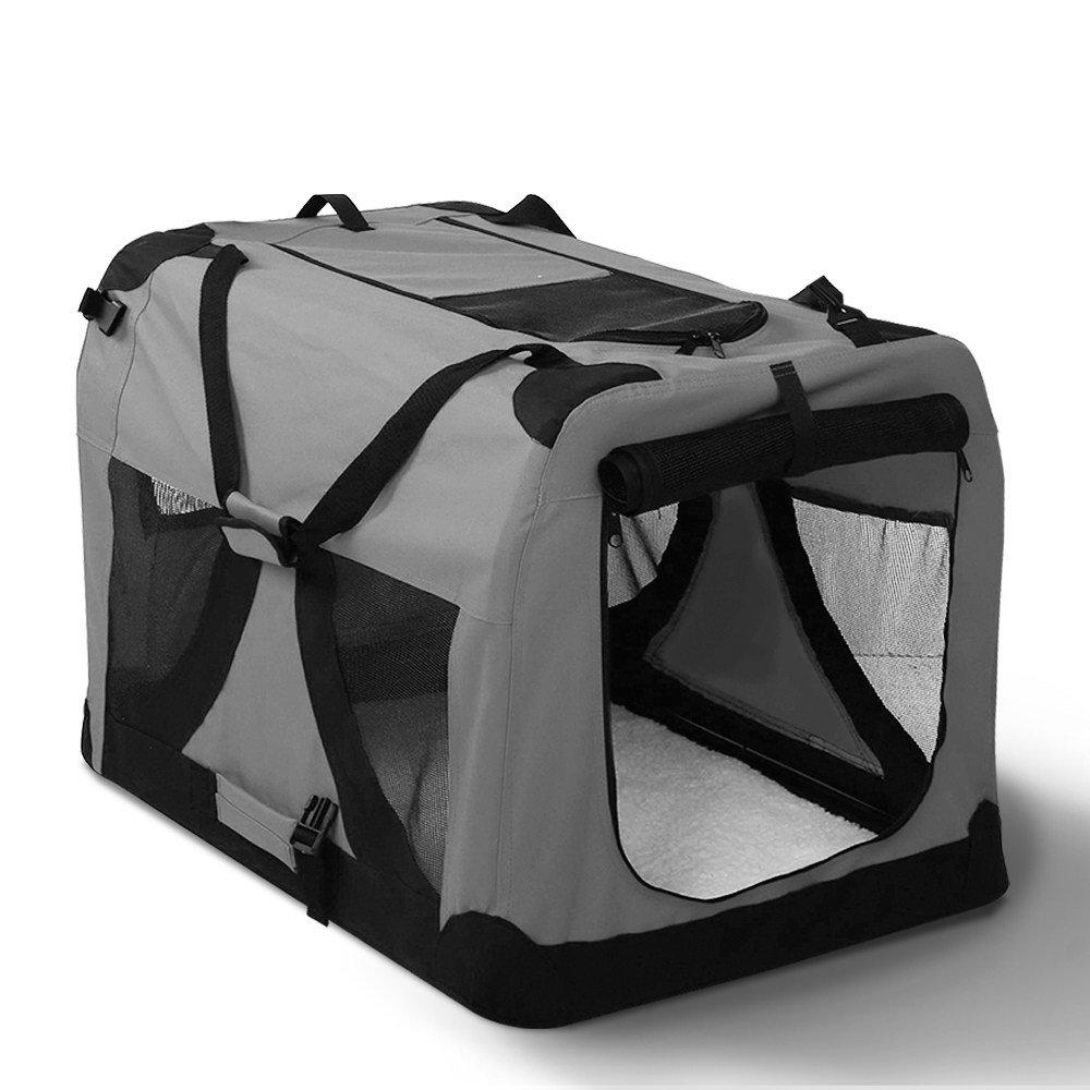IPET Pet Soft Crate Dog Cat Portable Carrier Travel Cage Foldable Large GR