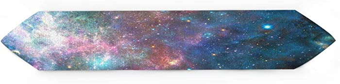 Cloud Dream Home Galaxy Decor Table Runner for Morden Greenery Garden Wedding Party Table Setting Decorations Planet Space Stars 13x70inch
