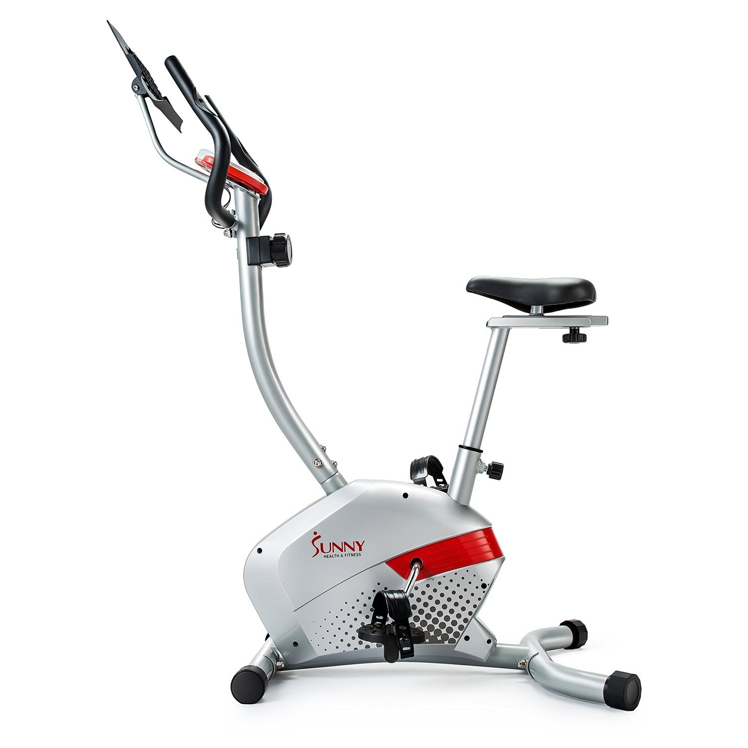 sunny health fitness magnetic upright bike with