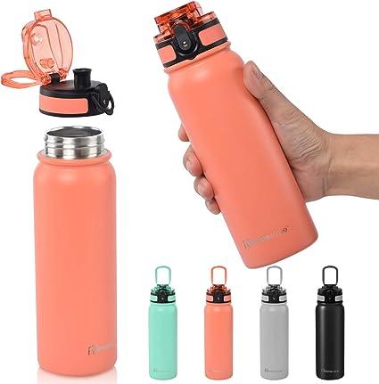Trinkflasche Wasserflasche Sportflasche Wasserbecher Edelstahl Kinder 500ml