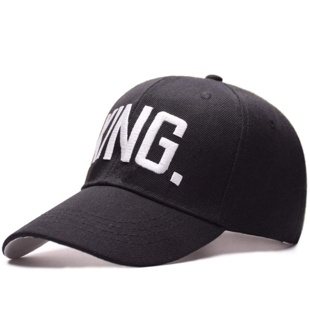 Outdoor Sports hat Baseball Cap Selling Letter Embroidery Baseball Cap Couples Hip Hop Cap for Man Hat Women Bone GrljdHat (color   King Queen)