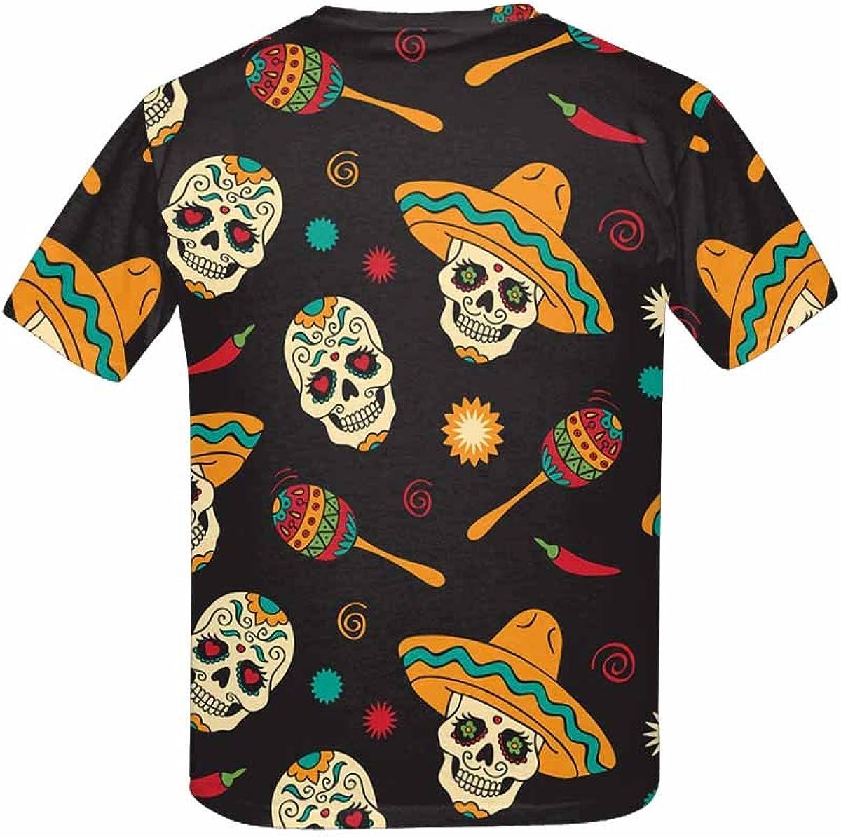 XS-XL INTERESTPRINT Childs T-Shirt Sugar Skulls
