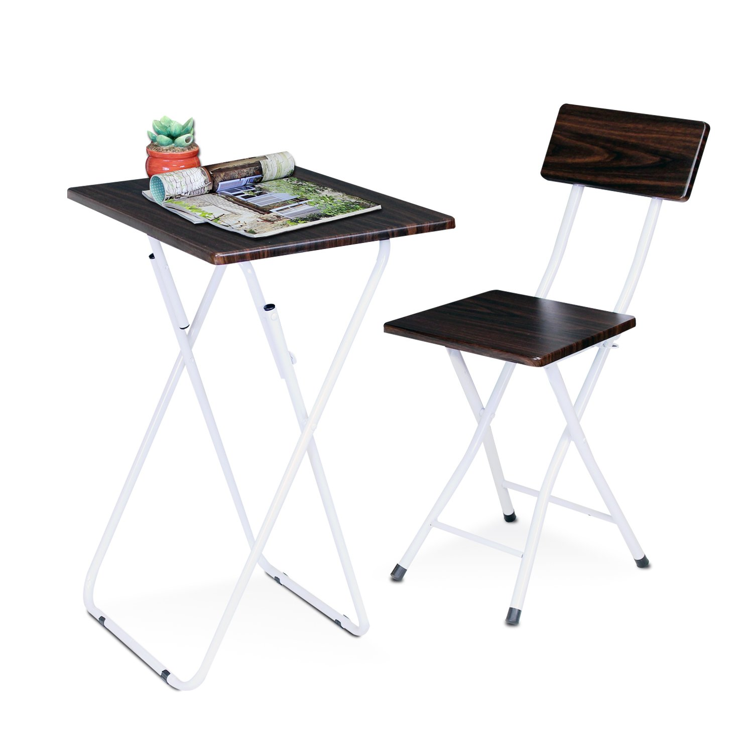 space saving folding furniture. Amazon.com: Furinno FNBM-22110EX Space Saving Study Desk And Chair Set: Kitchen \u0026 Dining Folding Furniture