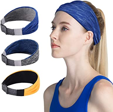 Chic Headbands Wide Sports Workouts Fashion Stretch Adults Youth Flair