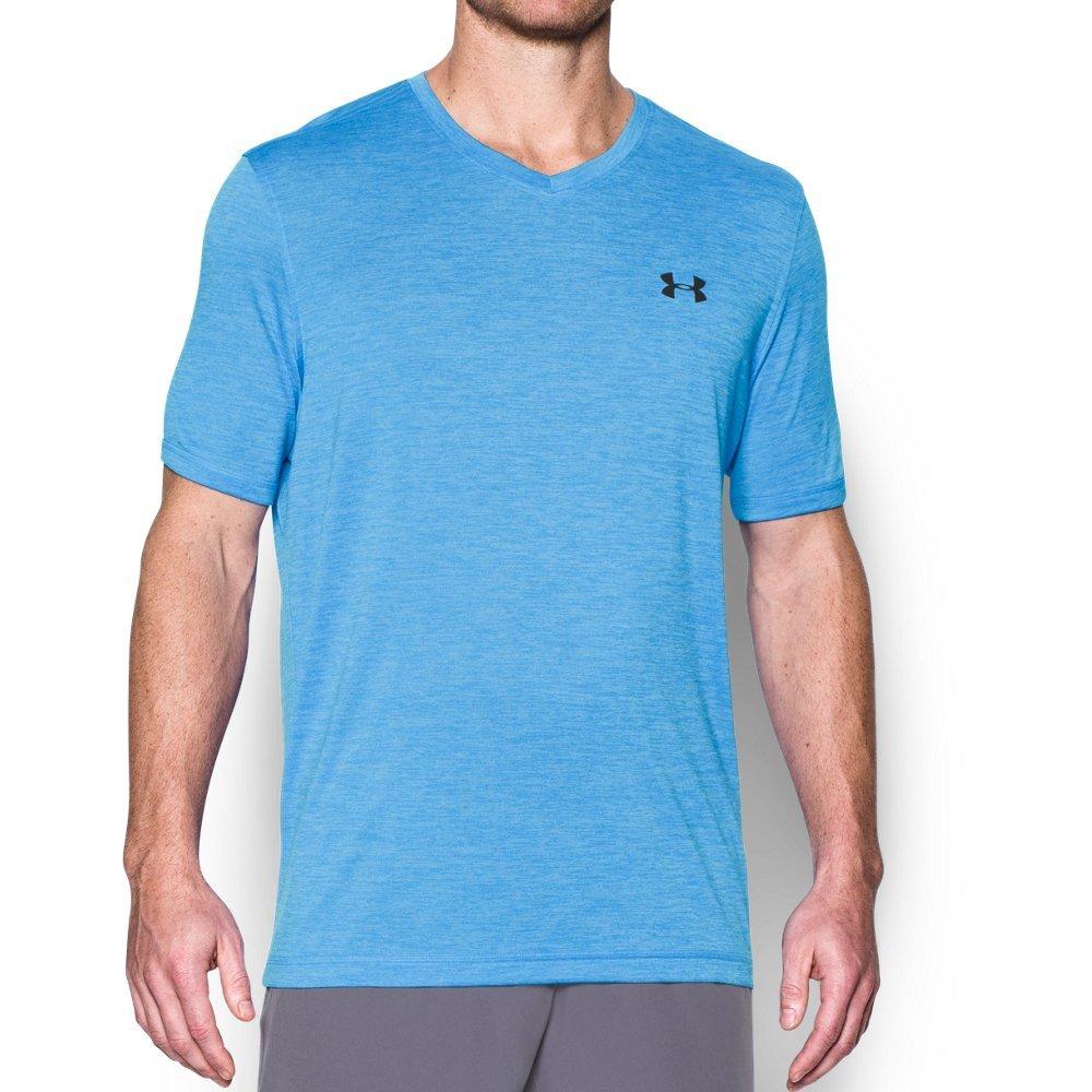 Under Armour Men's Tech V-Neck T-Shirt, Water /Black, Medium by Under Armour