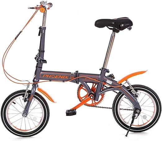 DT Bicicleta de 14 Pulgadas Plegable Portátil de Bicicleta Estilo ...