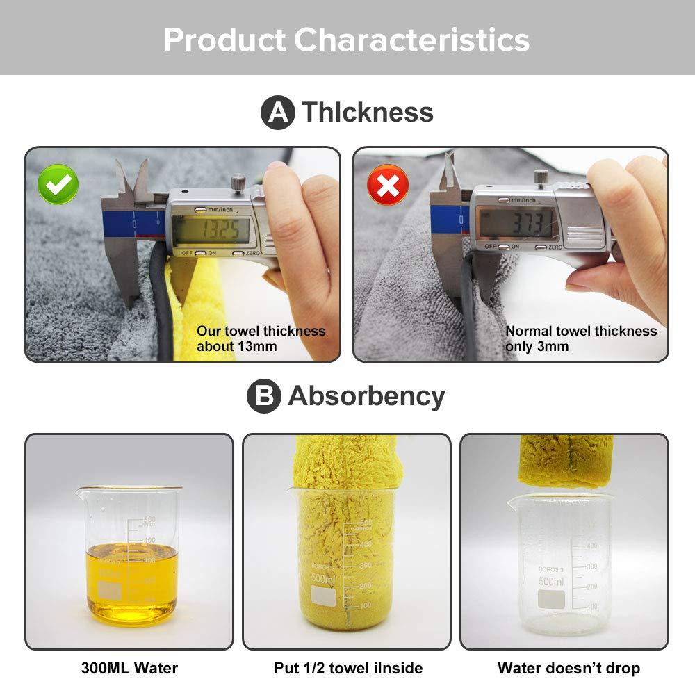 Autocare Chiffon de nettoyage pour voiture en microfibre super /épais 800/g//m/²