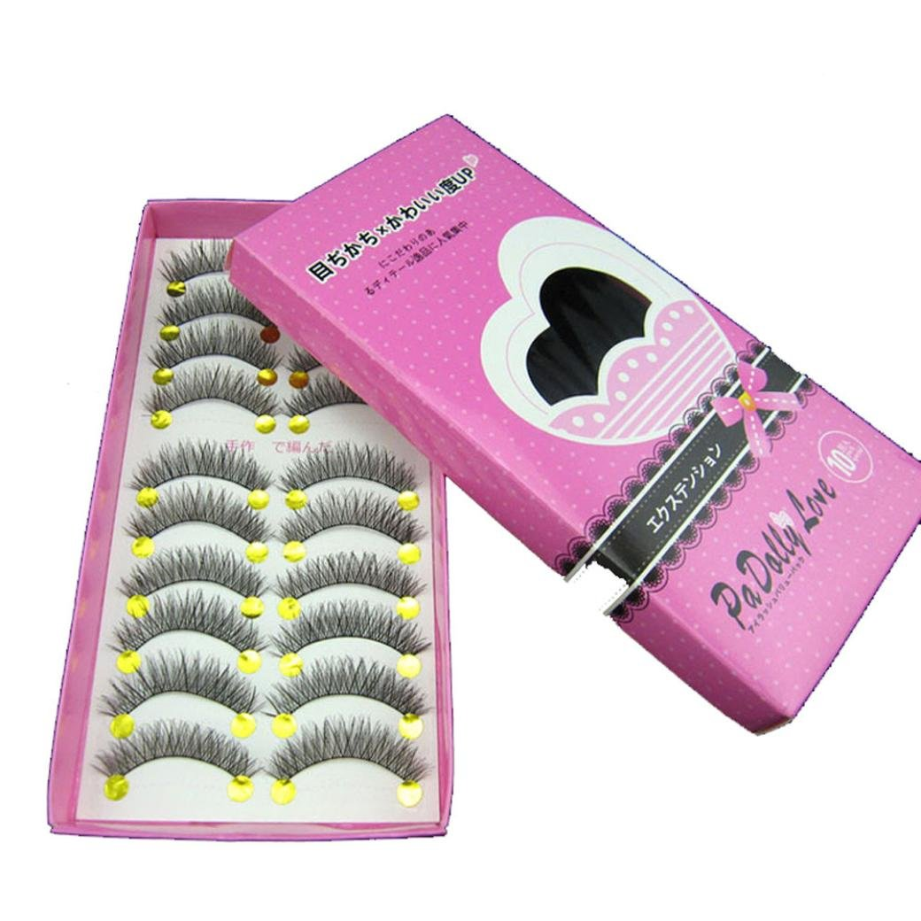 NewKelly Black 10 Pairs Eyelashes