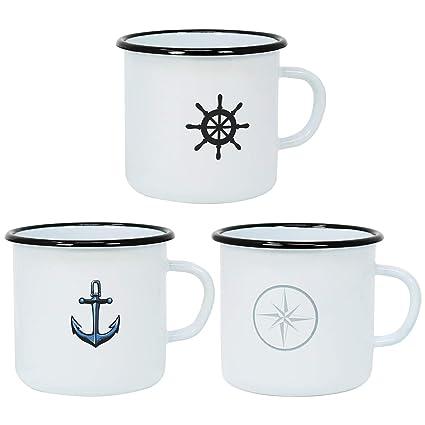 Becher mit Henkel Ankerdesign perfekt für die maritime Dekoration