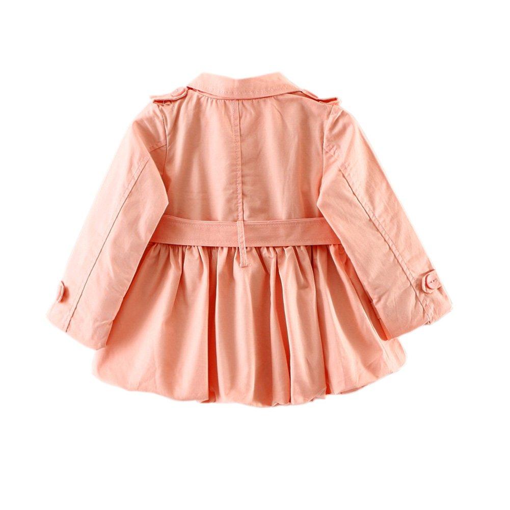 Kids Baby Girls Spring Princess Jacket Autumn Trench Coat Fashion Windbreaker Overcoat