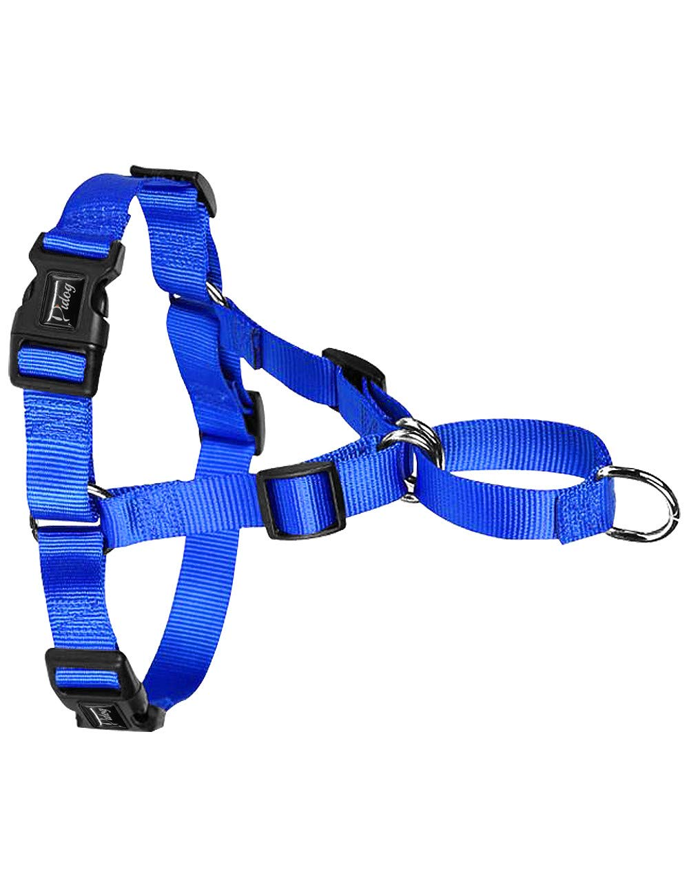 bluee L bluee L XQQX Pet Leashnylon No Pull Harness No Choke Training Harnesses Front Fastening Stop Pulling