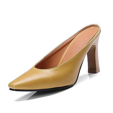 22730fcc48b Amazon.com | high Heels Shallow Mouth Pointed Toe pumpssummer ...