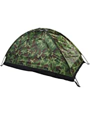 Camouflage Tent, Waterproof One Person Tent Outdoor Camouflage UV Protection For Camping Hiking 78 * 39 * 39 Inch