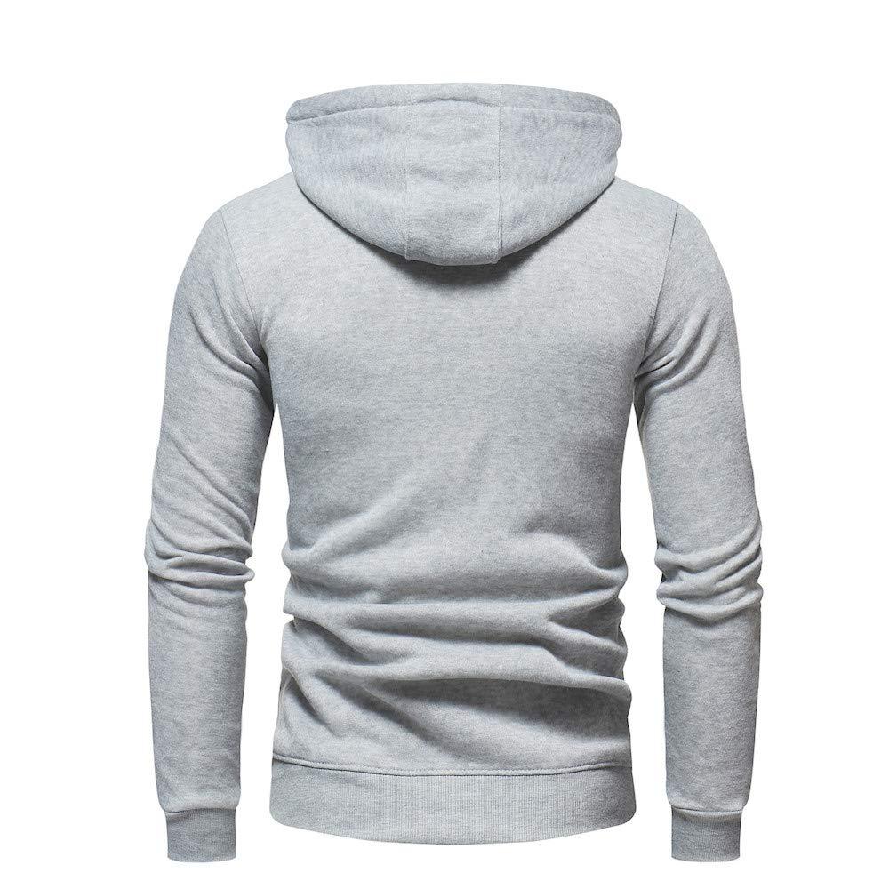 Naturazy Chaquetas Hombre, Sudaderas Hombres, Sudadera con Capuch Tops Outwear Manga Larga T-Shirts Camiseta Casual Tops Blusa Moda Hombres Slim Fit O ...