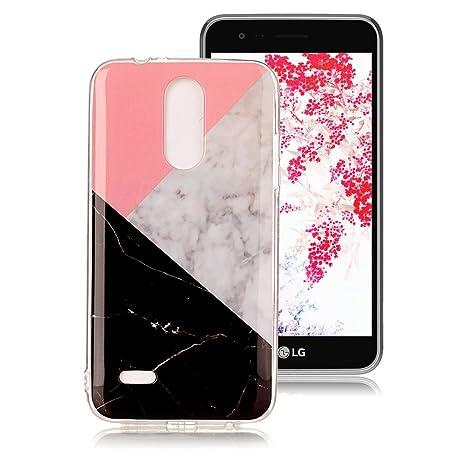 Funda Mármol para LG K10 2017, Ronger Carcasa Gel TPU Silicona Marble Case Cover Funda Ultra Fino Flexible con Patrón de Piedra para Funda LG K10 ...