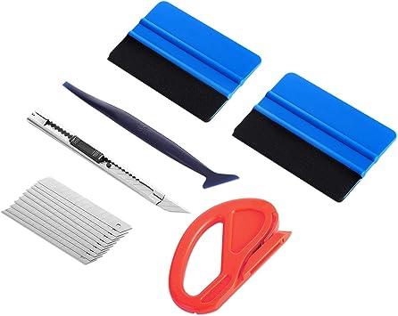 Car Auto Window Scraper Wrap Tint Vinyl Film Squeegee Installation Tool Kit S
