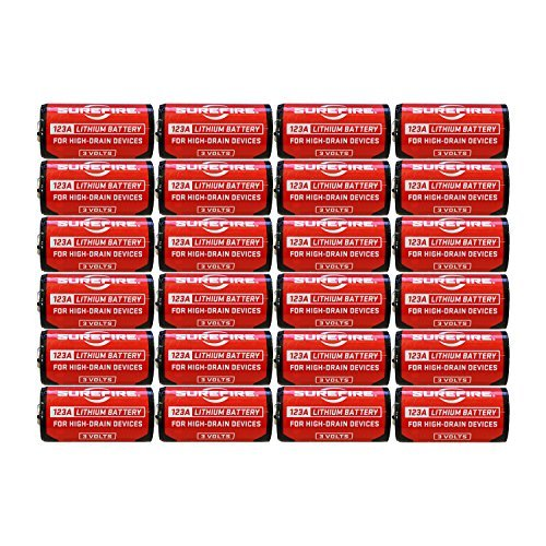 (SureFire SF12-BB 123A 3-Volt CR123 Lithium Batteries - 24 Pack)
