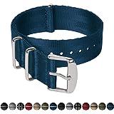 Archer Watch Straps | Cinturini NATO in nylon di altissima qualità stile cintura di sicurezza | Cinturini di ricambio resistenti tipo militare | Vari colori e misure (18mm, 20mm, 22mm)