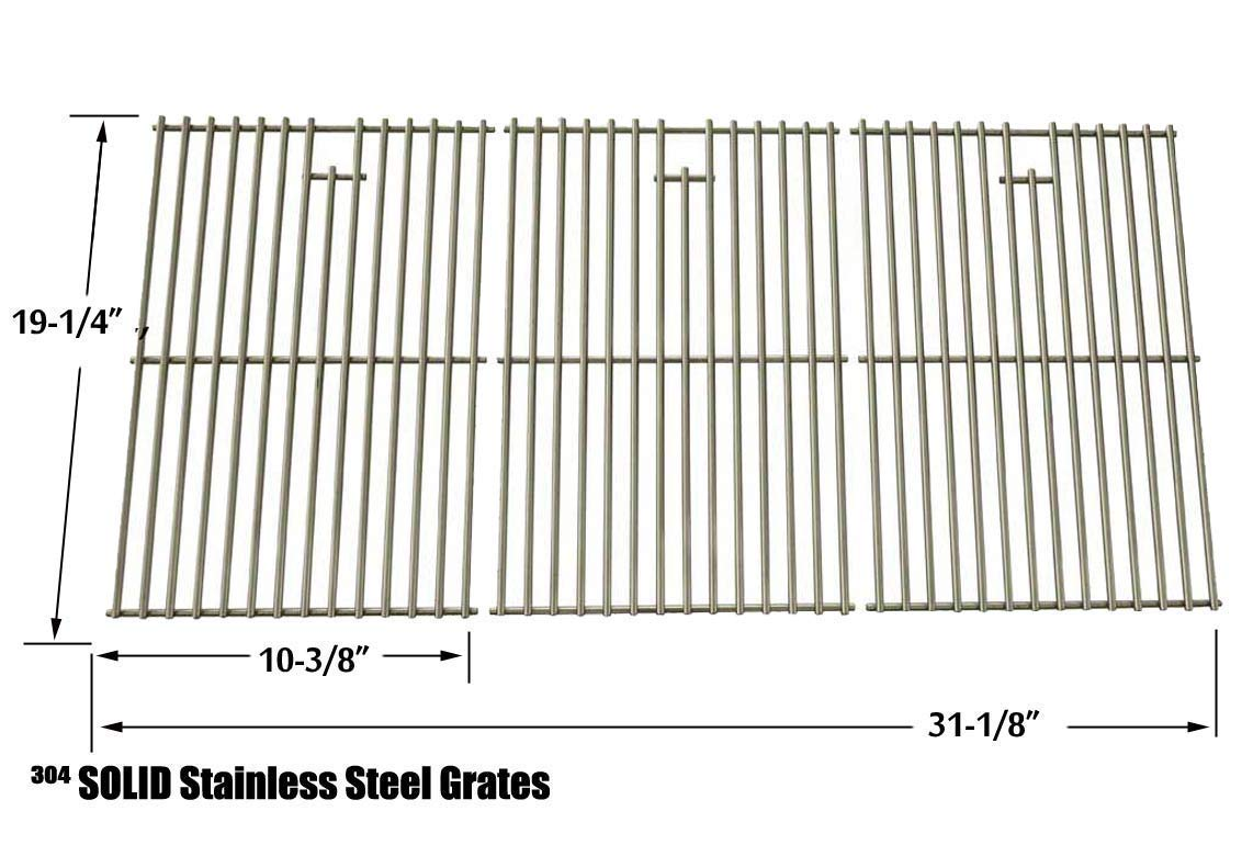 Repair Kit for Charmglow 720-0536 BBQ Gas Grill Includes 4 Stainless Burners, 4 Stainless Heat Plates and Stainless Steel Grates by Grill Parts Zone (Image #1)