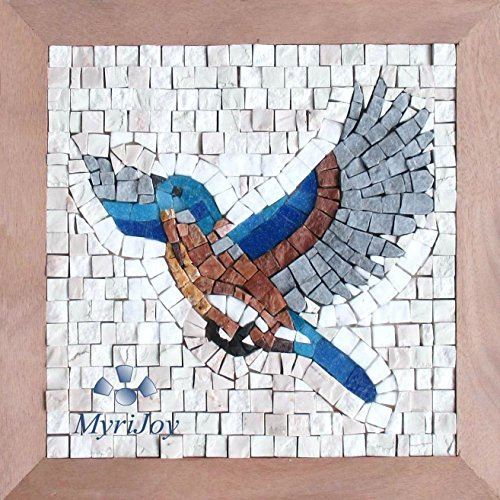 "MOSAIC tile kit for adults DIY Take flight 9""x9"" - Mini mosaic handmade wall hanging/Arts and craft kits for adults/Creative Hobbies/Mosaic Supplies/Puzzles for adults from MyriJoy"