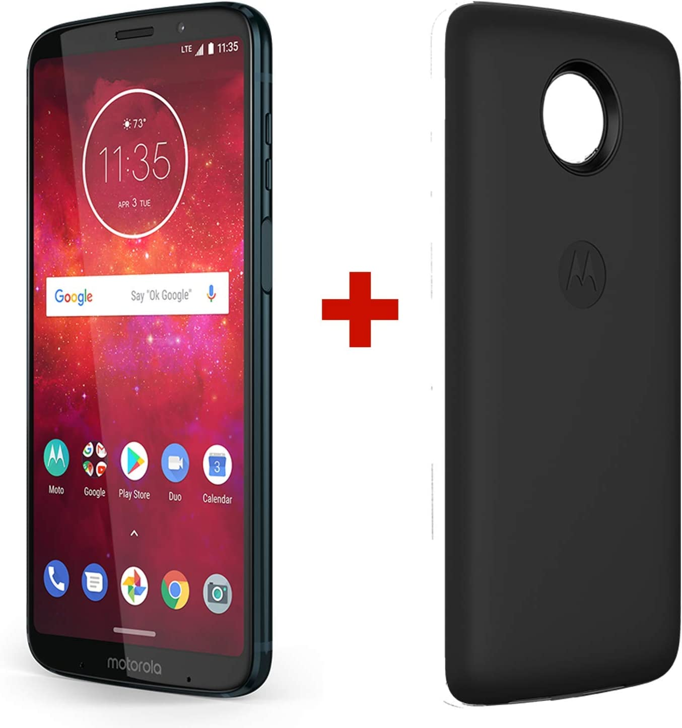 Motorola Z3 Play & Moto Power Pack - Unlocked (AT&T/Sprint/T-Mobile/Verizon) - 64GB - Deep Indigo (US Warranty) - PA9S0000US