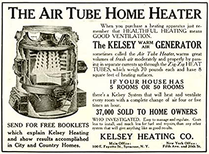 Amazon com: Rare 1910 AD for The Kelsey Warm AIR Generator Heater