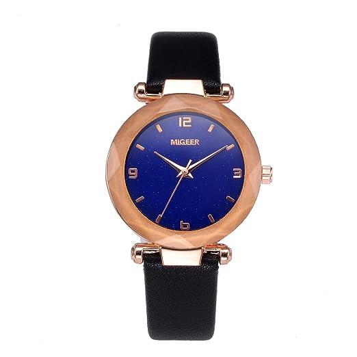 POJIETT Relojes Mujer Señora Marca de Moda Relojes de Cuarzo Analogico Correa Cuero para Mujer Reloj Pulsera Oro Rosa Mujer Chica Joyas Regalos: Amazon.es: ...