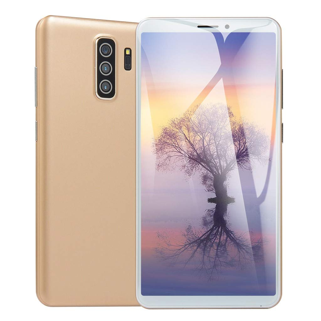 Gold Unlocked Smart Phone 5.8 inch Dual HD Camera Android 6.0 1G+4G GPS 3G Call Mobile Phone Suitable for Facebook Wechat Yutobe