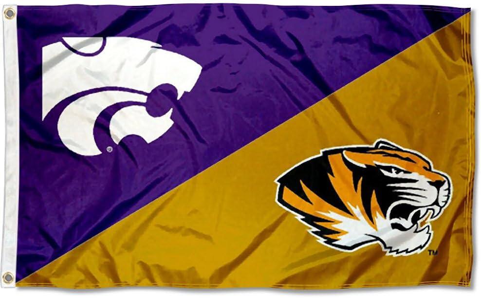 Kansas vs Kansas State House Divided 3x5 Flag and Banner