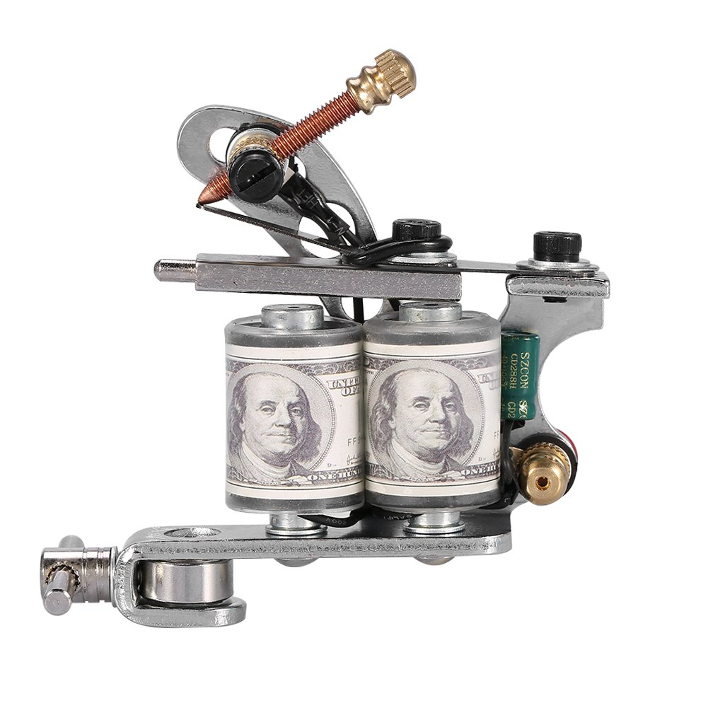 Tattoo Machine, Professional Tattoo Gun Machine Reel Film Coils Gun Frame for Shader Supply Equipment(Black) Filfeel