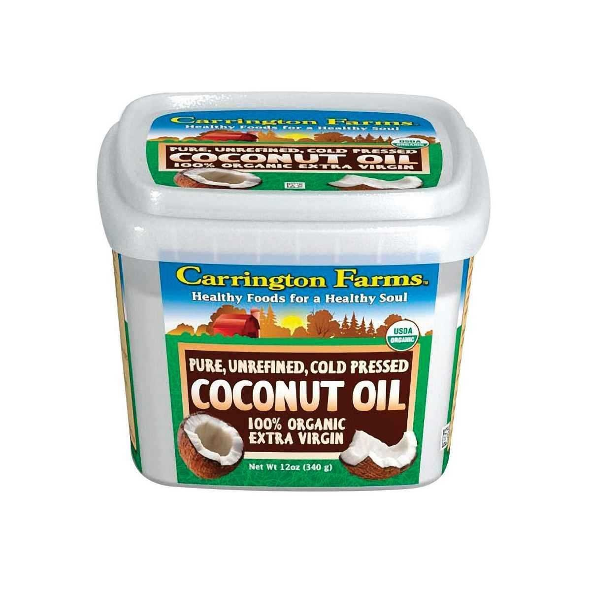 Carrington Farms Organic Extra Virgin Coconut Oil, 12 Fluid Ounce Tub - 6 per case. by Carrington Farms