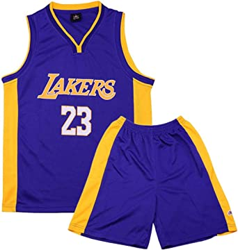 Formesy Camiseta Baloncesto niño/Basketball Jersey Set para Unisex - # 23 Lakers James / # 13 Rocket Harden / #11