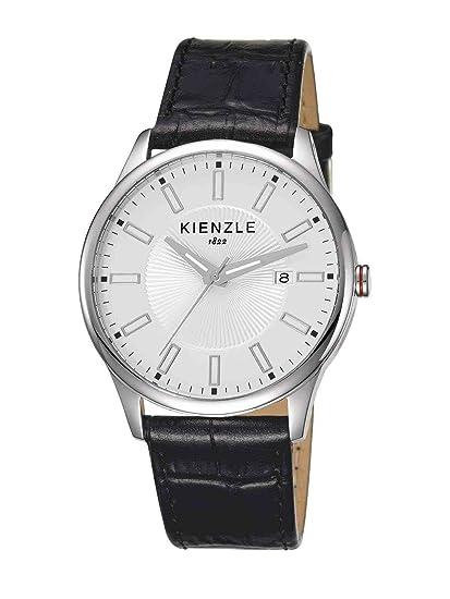 Kienzle K3041011021-00025 - Reloj analógico de cuarzo para hombre con correa de piel,