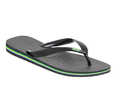 98aa638bf Havaianas Brazil Flip-flop Black Rubber - Large UK  Amazon.co.uk ...