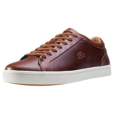 45df51bc5 Lacoste Straightset 317 1 CAM Leather Trainers in Brown 734CAM0058 078  UK 6    EU