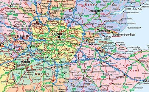 Cartina Fisica Del Regno Unito.Geografia Plastificata Per Una Maggiore Resistenza Circa 93 X 113 Cm Mappa Del Regno Unito Con Carta Fisica Su Un Lato E Politica Sull Altro Cancelleria E Prodotti Per Ufficio Visonic In