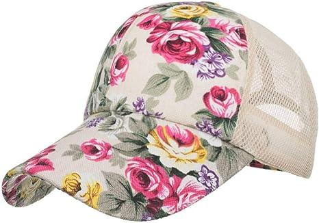 ZLJII Gorros Bordados De Flores para Mujeres Sombreros De Sol para ...
