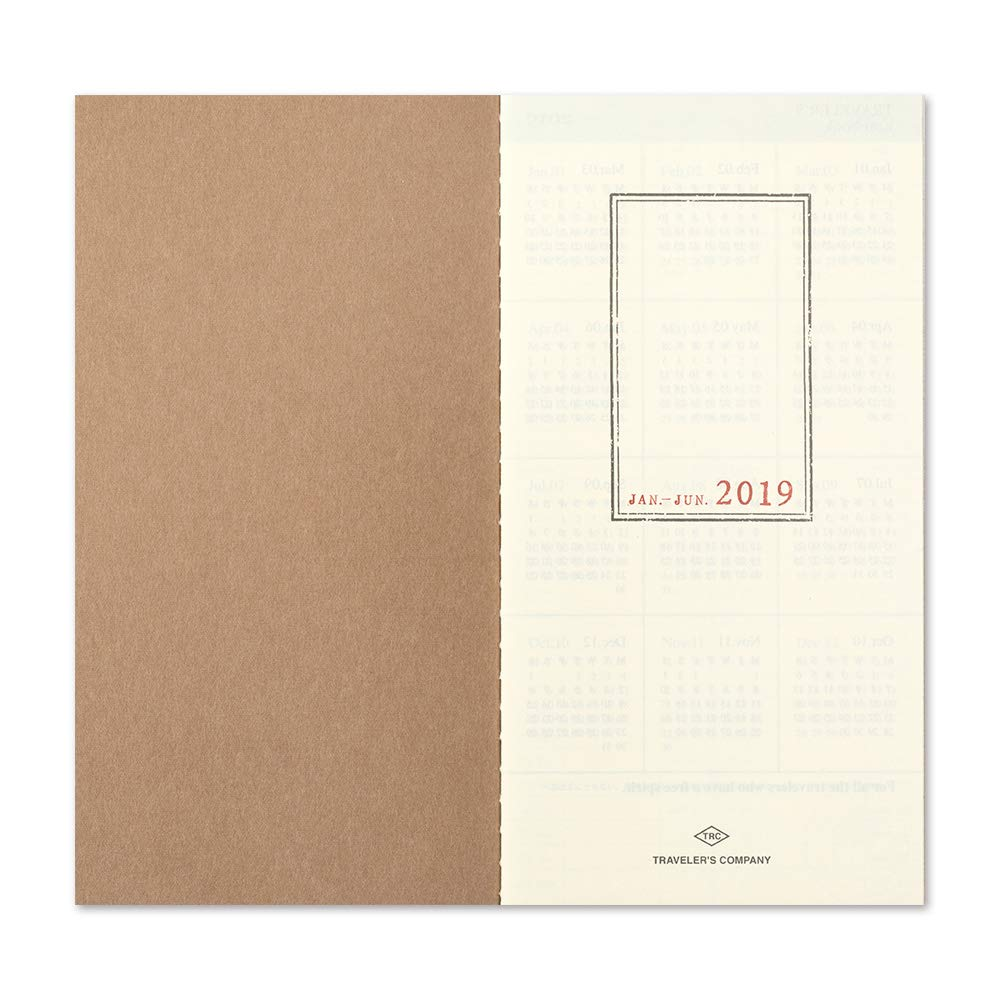 Midori Travelers Notebook Refill 2019 Weekly+MEMO (Regular Size)