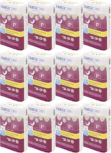 Natracare Maxi Pads Super with Organic Cotton Cover 12 ea (Pack of 12)