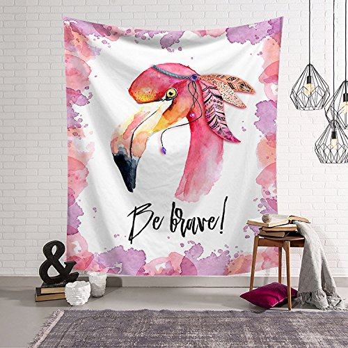 Flamingo Floral Tapestries Home Decor Collection Wall Hanging Geometric Flamingo Tropical Leaves Design - Wall Art Blanket for Bedroom Living Room Apartment House Wall Hanging Tapestry HYC02-A-US (#6) (Room Design Living Tropical)